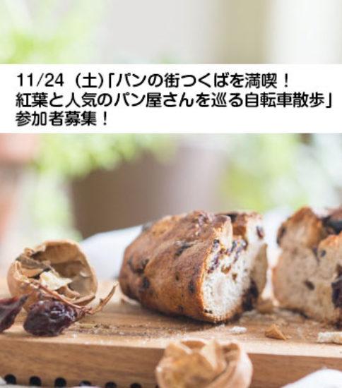 11/24(土)「パンの街つくばを満喫!紅葉と人気のパン屋さんを巡る自転車散歩🍁」参加者募集